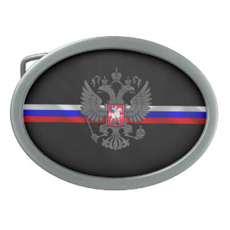 Russian Coat of arms Oval Belt Buckle