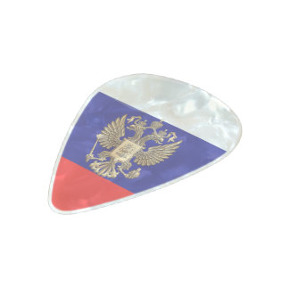 Russian Coat of arms Pearl Celluloid Guitar Pick