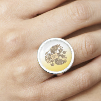 Russian Coat of arms Photo Ring