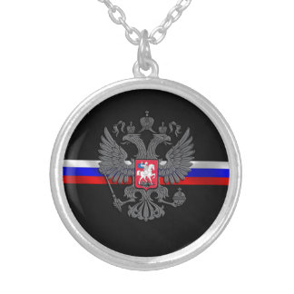 Russian Coat of arms Silver Plated Necklace