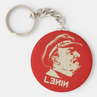 Russian Communist Leader Lenin Basic Round Button Keychain