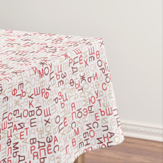 Russian cyrillic script tablecloth