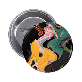 Russian dancers abstract 2 inch round button