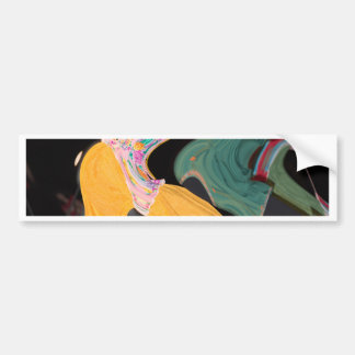 Russian dancers abstract bumper sticker