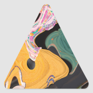 Russian dancers abstract triangle sticker