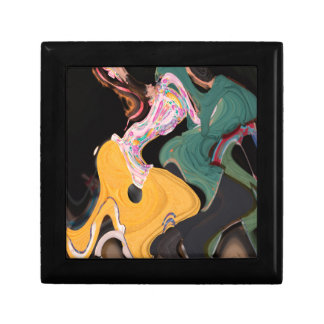 Russian dancers abstract trinket box