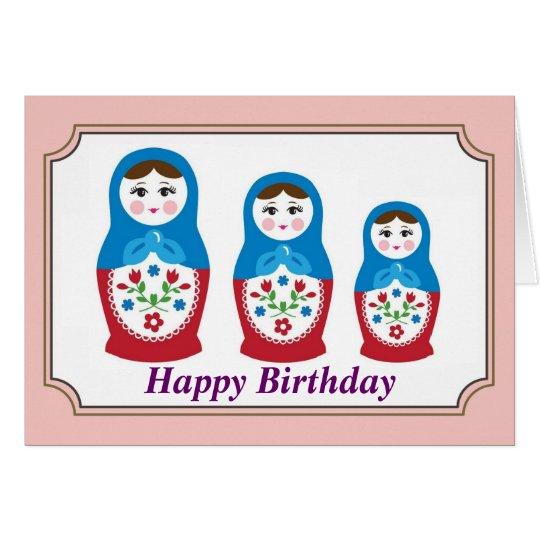 Russian doll Birthday Card