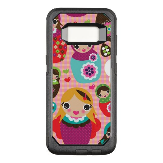 Russian doll illustration background OtterBox commuter samsung galaxy s8 case
