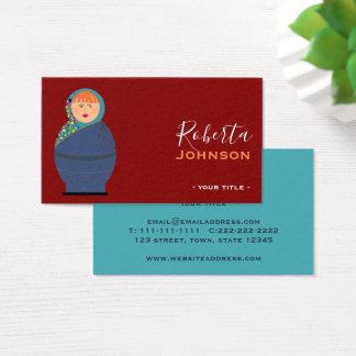 Russian Doll Matryoshka Fashion Designer Stylist Business Card