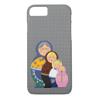 Russian Doll Matryoshka Life Stages Colorful Cute iPhone 8/7 Case