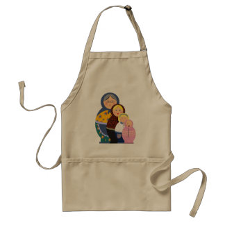 Russian Doll Matryoshka Life Stages Colorful Cute Standard Apron