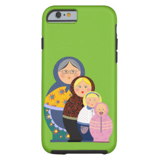 Russian Doll Matryoshka Life Stages Colorful Cute Tough iPhone 6 Case