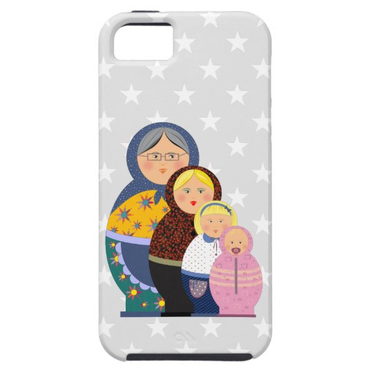 Russian Doll Matryoshka Life Stages Colourful Cute iPhone 5 Covers