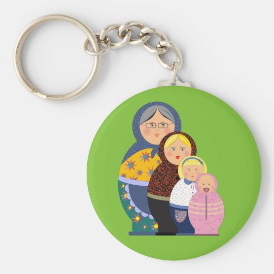 Russian Doll Matryoshka Life Stages Colourful Cute Keychain