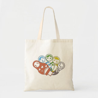 Russian Dolls | Colourful | Tote bag