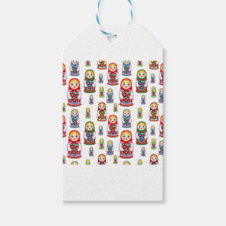 russian dolls pack of gift tags
