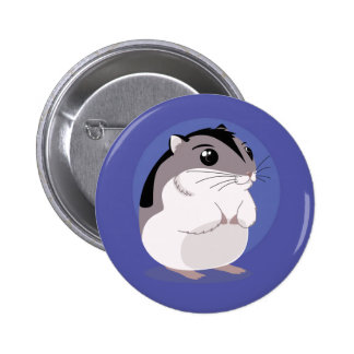 Russian Dwarf Hamster Cartoon 2 Inch Round Button