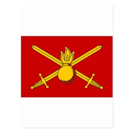 Russian Federation Army Flag Postcard