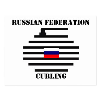 Russian Federation Curling Postcard