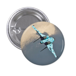 RUSSIAN FIGHTER 1 INCH ROUND BUTTON
