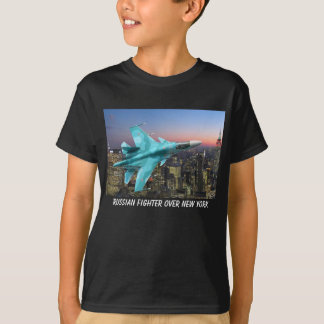 RUSSIAN FIGHTER OVER NEW YORK T-Shirt