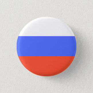 Russian Flag 1 Inch Round Button