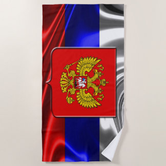 Russian flag beach towel