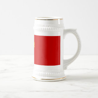 RUSSIAN FLAG BEER STEIN