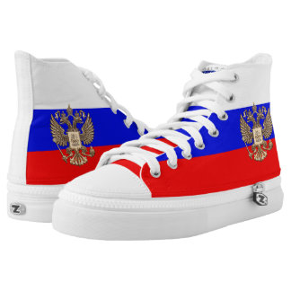 Russian flag high tops