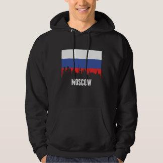 Russian Flag Moscow Skyline Hoodie