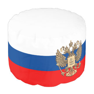 Russian flag pouf