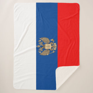 Russian flag sherpa blanket