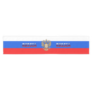 Russian flag short table runner