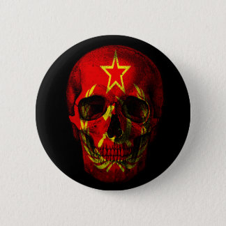 Russian flag skull 2 inch round button