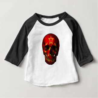 Russian flag skull baby T-Shirt