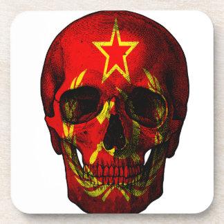 Russian flag skull coaster