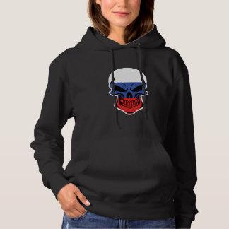 Russian Flag Skull Hoodie