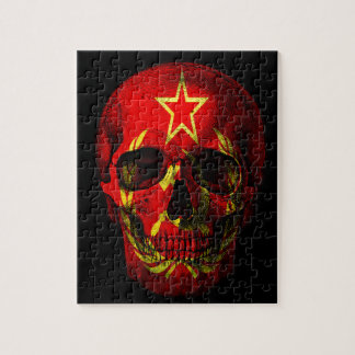 Russian flag skull jigsaw puzzle