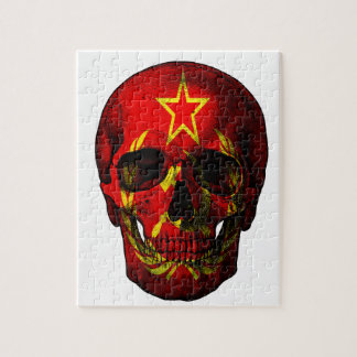 Russian flag skull jigsaw puzzle
