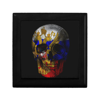 Russian flag skull keepsake box