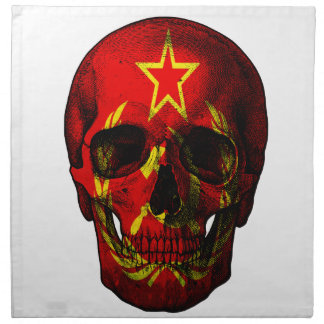 Russian flag skull napkin