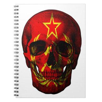 Russian flag skull notebooks