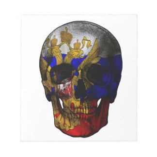 Russian flag skull notepad