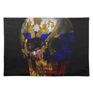 Russian flag skull placemat
