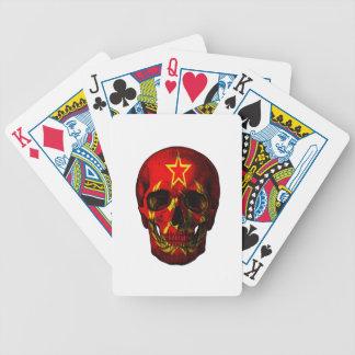 Russian flag skull poker deck