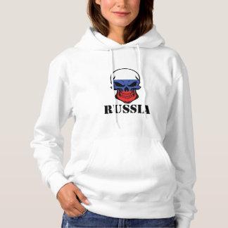 Russian Flag Skull Russia Hoodie