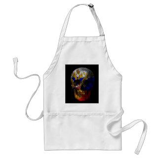 Russian flag skull standard apron
