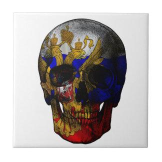 Russian flag skull tile