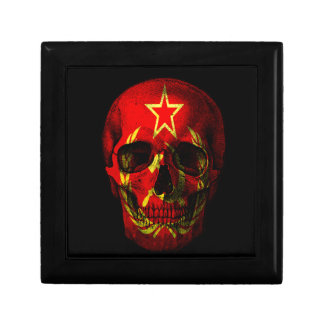 Russian flag skull trinket box