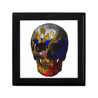 Russian flag skull trinket boxes